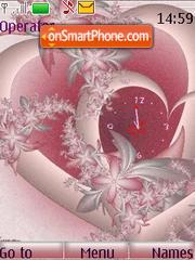 SWF clock hearts theme screenshot