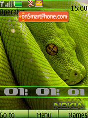 Snake green swf theme screenshot