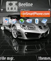 Скриншот темы Mercedes SLR Silver