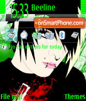Emo the guy and the girl theme screenshot