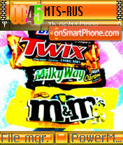Chocolates tema screenshot