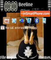Police Puppy theme screenshot