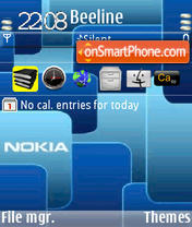 Nblue Animated 3 theme screenshot