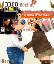 Cute Love Kiss Animated theme screenshot