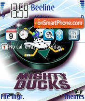 Anaheim Mighty Ducks theme screenshot