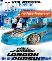 Скриншот темы The Fast And The Furious 4 London Pursuit 01