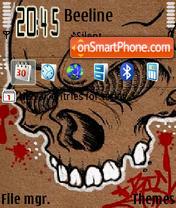 Abstract Skull theme screenshot