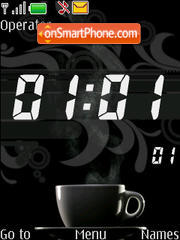 Coffe Clock theme screenshot