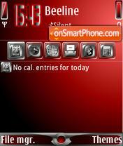 Скриншот темы Dimmed Red