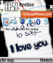 Love You 04 theme screenshot
