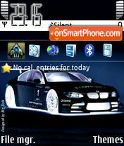 Bmw M3 Negative theme screenshot