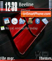 Red Xp V2 theme screenshot