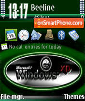 Green Xp V2 theme screenshot