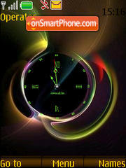 SWF abstract clock Theme-Screenshot