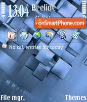 Light Cubes theme screenshot
