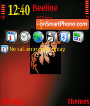 RedAndBlack theme screenshot