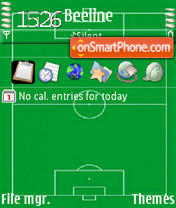 Soccer Field theme screenshot