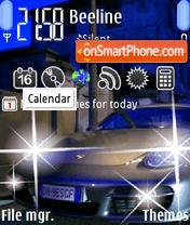 An blue Car es el tema de pantalla