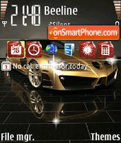 An Mercedes Slr theme screenshot