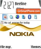 Скриншот темы Animated Nokia 2