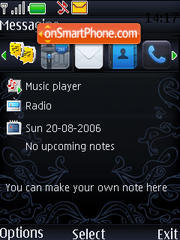 Blue Iphone 2009 theme screenshot