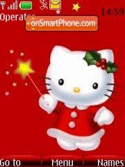 Hello Kitty Santa theme screenshot