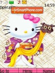 Hello Kitty theme screenshot