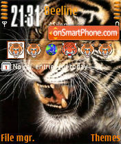Animated Tiger 01 theme screenshot