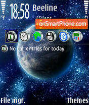 Space 06 theme screenshot