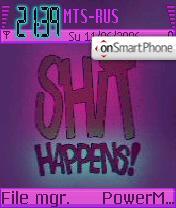 Shit Happens es el tema de pantalla