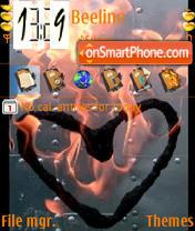Скриншот темы Animated Heart