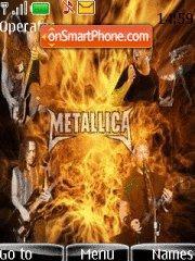 Metallica In Flames theme screenshot