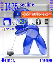 Golfer theme screenshot