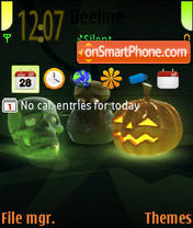 An trick or treat es el tema de pantalla