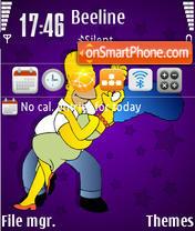 Скриншот темы Marge & Homer
