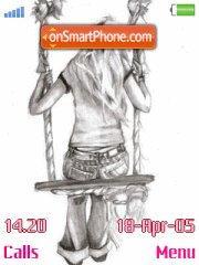 Drawing Girl es el tema de pantalla