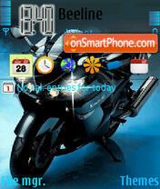 Скриншот темы Animated Motorbike