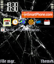 Broken Screen tema screenshot