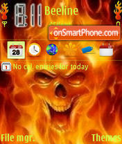 Fire Skull theme screenshot