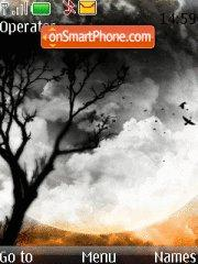 Tree And Moon tema screenshot