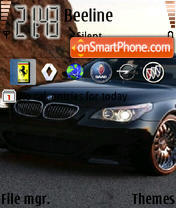 Bmw 5 Series 01 theme screenshot