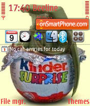 Kinder Surprise theme screenshot