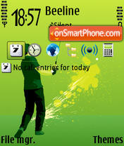 Golf 06 theme screenshot