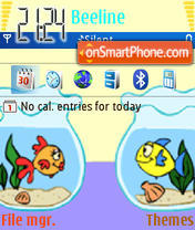 Fishes in Love theme screenshot