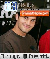 Roger Federer 02 theme screenshot