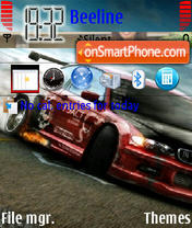 Bavaria Motors BMW Drift theme screenshot