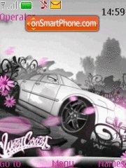 Pink Car theme screenshot