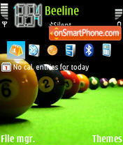 Billiards theme screenshot