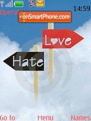 Hate Love tema screenshot