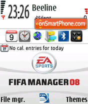 Fifa Manager 08 theme screenshot
